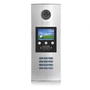 """Лицев панел - алуминиев с 3,5"""" цветен LCD дисплей V-TEC DMR18S/ID-F"""